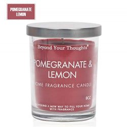 Beyond Your Thoughts Scented Candle Aromatherapy Wax Mixed Popular Long Lasting Pomegranate Lemo ...