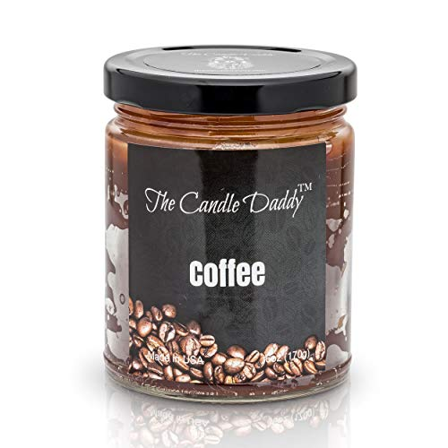 Coffee Scented Candle – 6 oz jar Candle – up to 40 Hour Burn – Hand Poured in  ...