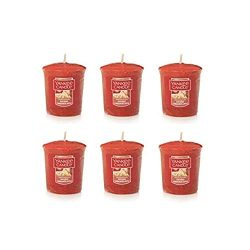 Yankee Candle Lot of 6 Sugared Cinnamon Apple Votive Candles