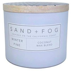 Winter Pine Scented Candle with Wooden Lid