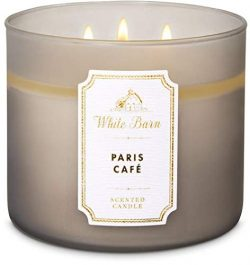 White Barn Bath & Body Works 3 Wick Candle Paris Cafe