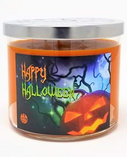 Happy Halloween 3 Wick Scented Soy Wax 12oz, 14.5oz, and 16oz Candles ~ 75 to 100 Hour Burn Time ...