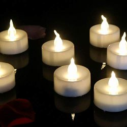 12pcs Tea Light Electronic Battery Candles Flameless Warm White Round Fake Led Flickering Candle ...