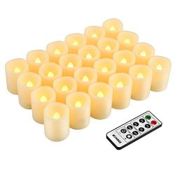 Kohree Flameless Candles LED Battery Candle Votive Unscented Flameless Pillar with Remote Contro ...