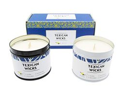 Texican Wicks Aromatherapy Candles Scented Candles – Small Vanilla Soy Candles Cherry Wood ...