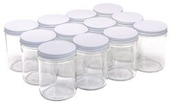 North Mountain Supply 16 Ounce Glass Wide Mouth Straight-Sided Canning Jars – with White M ...