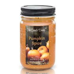 The Candle Daddy Spiced Pumpkin Spice Scented Candle – Great Fall Scent for Autumn, Hallow ...