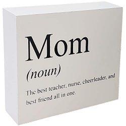 JennyGems Mom Sign – Mom The Best Teacher, Nurse, Cheerleader, and Best Friend All In One  ...
