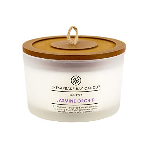Chesapeake Bay Candle 3-Wick Scented Candle, Jasmine Orchid, Coffee Table Jar