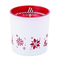 Root Candles Winter Wonderland Beeswax-Blend Holiday Glass Candle, 12-Ounce, Cranberry
