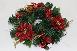 Holiday Essentials Christmas Candle Wreath