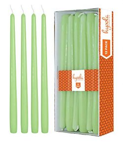 Hyoola 12 Pack Tall Taper Candles – 10 Inch Celery Green Dripless, Unscented Dinner Candle ...