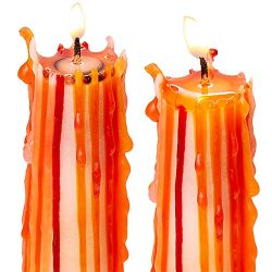 Spooky, Long Burning Halloween Drip Candles 4 Pk. Fun Bleeding Multi Color Candlesticks Add Cool ...