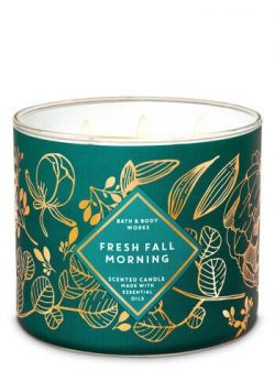White Barn Bath & Body Works 3 Wick Candle Fresh Fall Morning