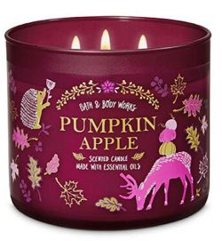 Bath and Body Works 3 Wick Scented Candle Pumpkin Apple 14.5 Ounce