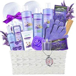 Gift Baskets -the #1 Choice Mothers Day Gift Ideas-Bath and Body Spa Basket For Women & Men. ...