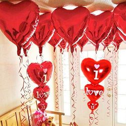 12 + 2 I Love You Balloons and Heart Balloons Kit – Pack of 14 – Valentines Day Deco ...