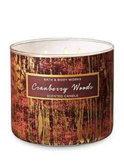 Bath & Body Works 3-Wick Scented Candle in Cranberry Woods