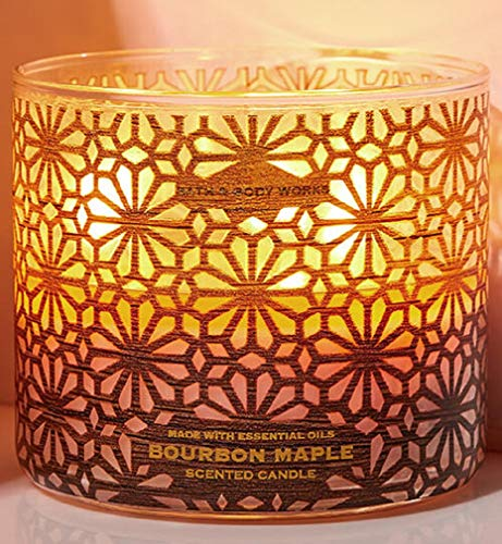Bath & Body Works 3-Wick Luminary Autumn Scented Candles (Bourbon Maple)