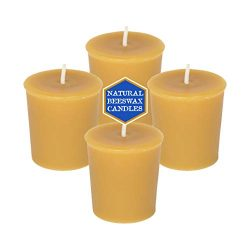 Natural Beeswax Votive Candles – 100% Pure Beeswax (4-Pack)