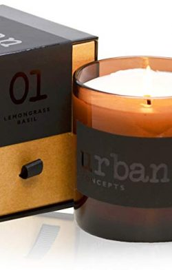 DECOCANDLES Urban Concepts Tranquility – Lemongrass & Wild Basil – Highly Scente ...