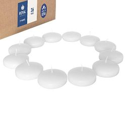 Royal Imports Floating disc Candles for Wedding, Birthday, Holiday & Home Decoration, 3 Inch ...