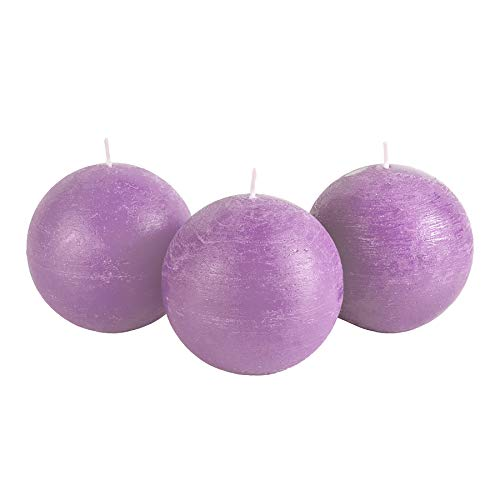 Candle Atelier 'Spring Wedding'-Scented, Tender Lilac 4″ Handmade Round-Shaped ...
