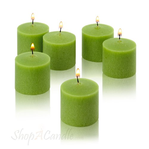 Light In The Dark Lime Green Votive Candles – Box of 12 Unscented Candles – 10 Hour  ...