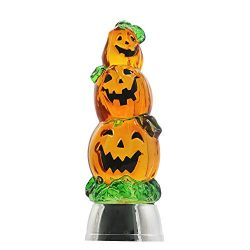 DRomance Color Changing LED Pumpkin Light Battery Operated with 6 Hour Timer, 3-Tiers Lighted Wa ...