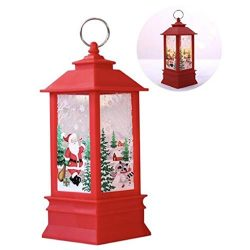 CheeseandU Merry Christmas Outdoor Lights Christmas Table Lamp Decoration Vintage Xmas Candle wi ...