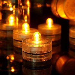 HL Submersible Tealights Waterproof Underwater LED Candle Light for Wedding Home Patry Vase Fest ...