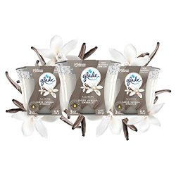 Glade 3-Wick Candle Sheer Vanilla Embrace, Fragrance Candle Infused with Essential Oils, 6.8 oz, 3ct