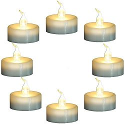 Topstone Flameless Flickering Candles with Timer,6 Hours On and 18 Hours Off in Cycle,Battery Op ...