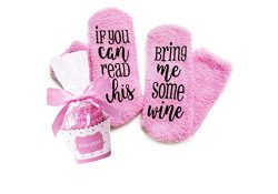 Wine Socks with cupcake Gift Packaging:Christmas,Valentine's Day, Birthday, Stocking Stuff ...