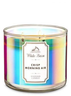 White Barn Bath & Body Works 3 Wick Candle Crisp Morning Air
