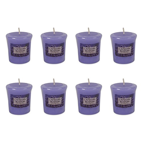 DII Single Wick Evenly Burning Highly Scented Votive Candle, 1.8 oz, Lavender Blossom