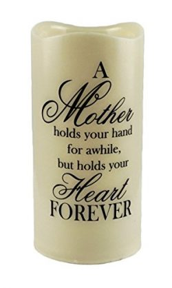 Gerson Mother Holds Your Heart Forever Flameless Memory Candle
