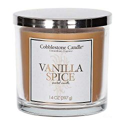 Vanilla Spice Scented Jar Candle | Home Decor, Soy Wax Blend with Triple Wick | 30-50 Hour Burn Time