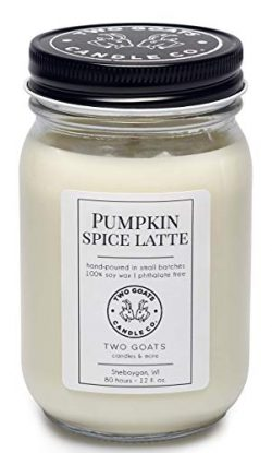 Pumpkin Spice Latte Scented Soy Candle | Hand Poured in the USA | 12 oz.
