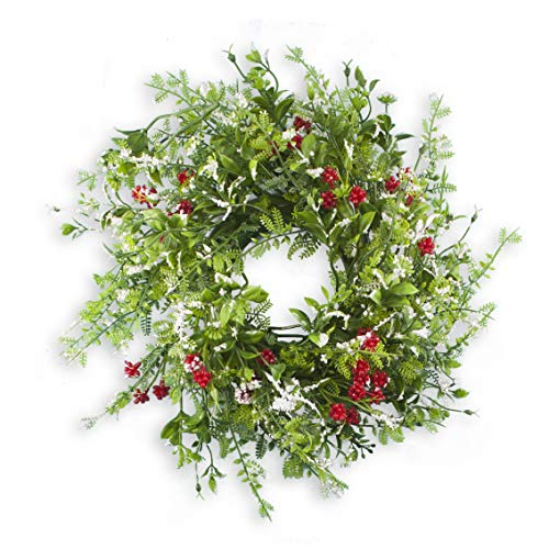 Holiday Essentials Holly Christmas Candle Wreath