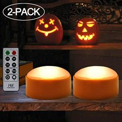 HOME MOST 2-Pack Halloween Pumpkin Lights with Remote/Timer – Orange Pumpkin Lights LED Ba ...