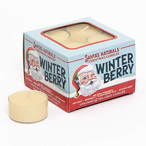 Santa's Naturals Winter Berry Christmas Candle | Warm Cider Fragrance | Made with Essentia ...