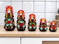 Chritmas candles bright in russian style Nestin dolls Matryoshka Mother Day gift for woman and H ...