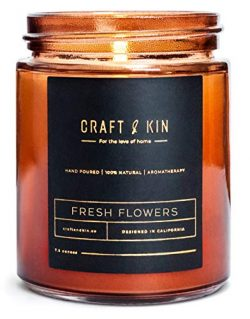 Craft & Kin Scented Candles, Premium Soy Candles for Men & Women   All-Natural Soy Wax R ...