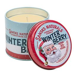 Santa's Naturals Winter Berry Christmas Candle | Warm, Spicy Cider Holiday Fragrance | Nat ...