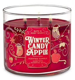 Bath and Body Works 3 Wick Scented Candle Winter Candy Apple 14.5 Ounce