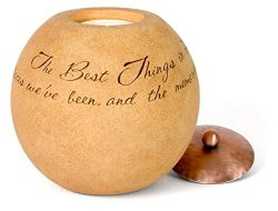 Comfort Candles The Best Things in Life by Pavilion Includes Tea Light Candle, 4-1/2-Inch Round, ...