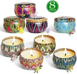 Bingolife Scented Candles Outdoor and Indoor Natural Soy Wax Aromatherapy Candle Portable Travel ...