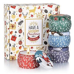 Andplay Christmas Scented Candles Gifts Set for Women Aromatherapy Candles Stress Relief, Upgrad ...