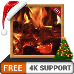 Curly Wood Fireplace FREE – Enjoy the peaceful ambiance on your 4K TV and Fire Devices as  ...